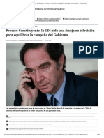 Proceso Constituyente_ la UDI pide una franja en televisión para equilibrar la campaña del Gobierno - El Mostrador