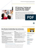 Training and Certifying SAP® Software Experts for SAP HANA