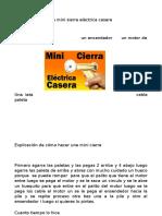Materiales Para Una Mini Sierra Eléctrica Casera