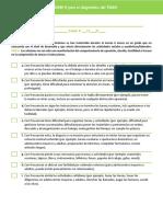 Criterios Dsm v Para Diagnostico Del Tdah Versión Alumnos