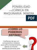DISPONIBILIDAD MECANICA EN MAQUINARIA MINERA