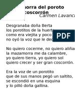 JV Masamorra Del Porota Coscarrón