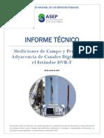 Inftec Mediciones Prueba Adyacencia Canales Digitales Dvb t Panama