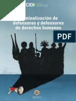 Criminalización de defensores y defensoras de los Derechos Humanos