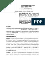 Constestacion DEMANDA DE OBLIGACION DE DAR SUMA DE DINERO