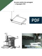 Aula sobre CNC com função de circulo em máquina ROMI