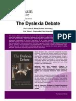 The Dyslexia Debate Publisher Summary