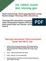 4. DNA REKOMBINAN (1) Enzim Restriksi, Vektor