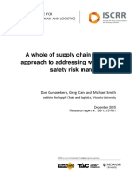 158 A whole of supply chain systems approach to addressing workplace safety risk management