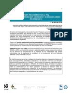 Informe 2015 sobre la situación de derechos humanos y DIH en Colombia