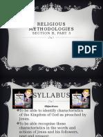 religious methodologies presentation