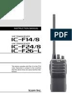 IC-F14 F24 Manual