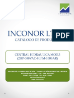 INCONOR LTDA Central Hidráulica Mod.3 (2hp 380vac 8lpm 100bar)