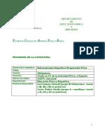 Programa Entrenamiento Deportivo Curso 2010-11