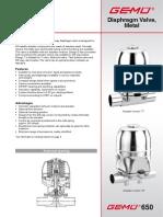 Especificaciones Valvulas GEMU E-650-Gb