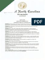 North Carolina Executive Order No. 93