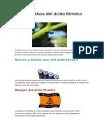 Usos Del Ácido Fórmico