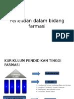Penelitian Dalam Bidang Farmasi
