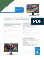 Dell UltraSharp 25 Monitor UP2516D Spec Sheet