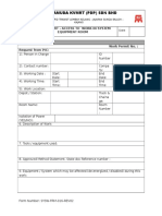 Work Permit - Access to Work in System Equipment Room_Rev02