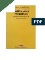 Lidia Fernandez Análisis de Las Instituciones Educativas