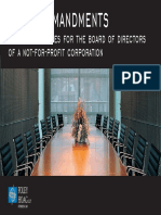 10 Commandments for Board of Directors of NonProfits