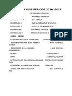 Struktur Osis Periode 2016