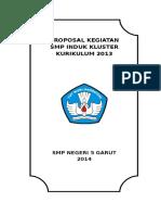 Proposal Implementasi Kurikulum K 13 berdasarkan Kluster.