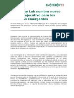 KL - Nuevo Director Ejecutivo Para Los Mercados Emergentes