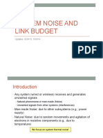 System NOise and Link Budget