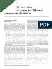 ab tech advances for bilateral cochlear implantation article