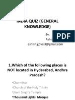 India Quiz (General Knowledge)