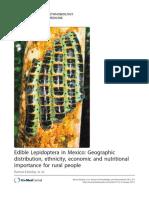 Lepidoptera Comestible en Poblaciones Rurales de México