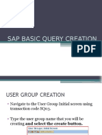 Sap Basic Query Creation