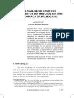 Análise de Caso Dos Julgamentos Do Tribunal Do Júri de Palhoça-SC - Góes, Luciano e de Ávila, Gustavo