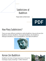subdivisions of buddhism