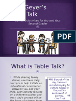 parent and family conferencing table talk