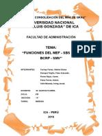 Funciones Del MEF, SMV, SBS Y AFP Y BCR