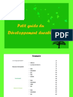 Petit Guide Du Developpement Durable