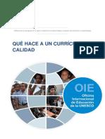 Propuesta curricular de Unesco
