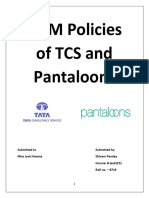 HRM Policies of TCS and Pantaloons