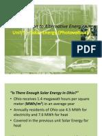Unit 5 Solar Energy Photo Voltaic