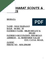 Scouts Log Book