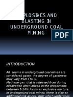 Explosives and Blasting - Underground Coal Mining