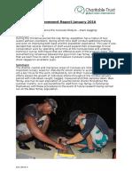 Cap Ternay Achievements Report January 2016
