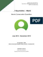 GVI Seychelles Marine Report Jul 2014 - Dec 2015 (Cap Ternay)
