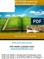 HUM 130 TUTOR Learn by Doing-hum130tutor.com