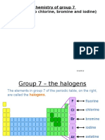 2.7 Group 7 the Halogens Revision Summary