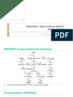 MR-VP Test (Methyl Red Voges-Proskauer Test) BURIAS