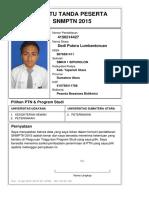 Kartu Pendaftaran SNMPTN 2015 4150214427